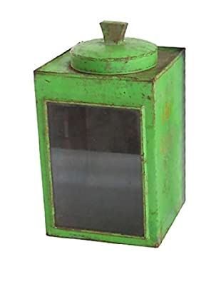 Cracker Box with Glass Side, Green