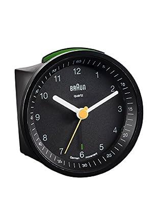 Braun Analoguhr-Alarm mit Schlummerfunktion schwarz