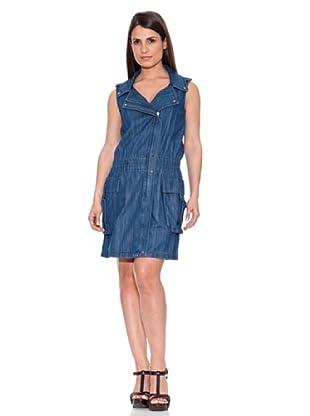 Caramelo Vestido Vaquero (Azul)