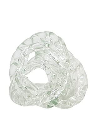 Three Hands Clear Glass Knot Statue