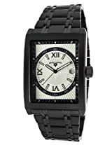 Limousine Black Ip Steel Silver-Tone And Black Dial Roman Numerals (40012-Bb-22S-Rn)