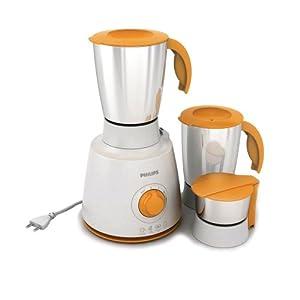 Philips Daily Collection HL7610 450-Watt 3 Jar Mixer Grinder (Orange)