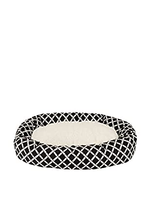 Majestic Pet Sherpa Bagel Bed (Black Bamboo)