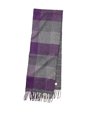 Joseph Abboud Men's Plaid Block Scarf (Charcoal)