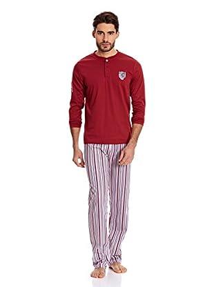 Bluedreams Pijama Caballero P Liso (Burdeos)
