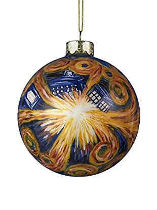 Kurt Adler Doctor Who Starry Night Paint Glass Ball Ornament