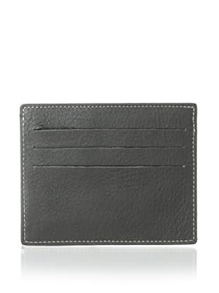 Leone Braconi Men's Nappa Merinos Card Holder (Gray)