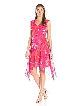 Sandra Darren Women's V-Neck Printed Dress
