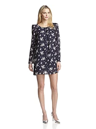 Lucca Couture Women's Long Sleeve Dress (Navy Floral)