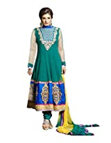 RAVEENA TANDON NET SUIT WITH DUPPATTA AND BOTTOM jd-5006