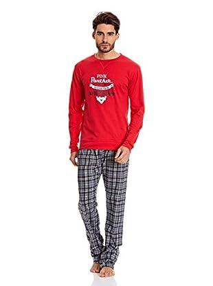 Gisela Pijama Camiseta Y Pantalón (Rojo)