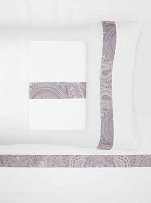 Errebicasa Panamera Sheet Set (White/Fog)