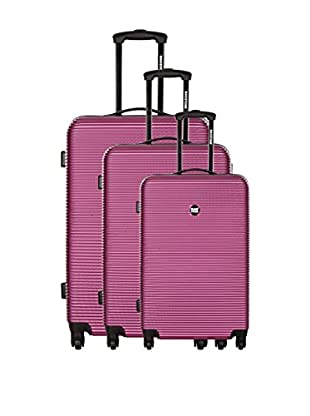 Bag Stone Set de 3 trolleys rígidos Dream Fucsia