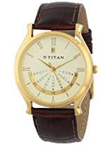 Titan Classique Analog Gold Dial Men's Watch - NC1482YL03