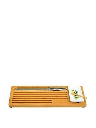 Picnic at Ascot Bread & Dip Board Set, Bamboo