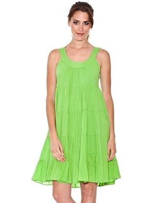 Peace & Love Vestido Arrugado (Verde)