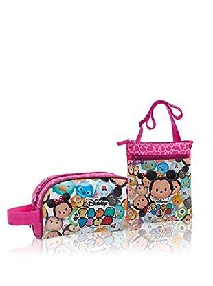 Disney Umhängetasche + Etui Tsum Tsum Pink