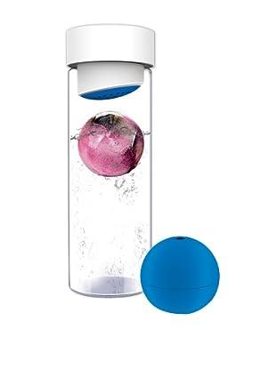 AdNArt Glass Water Bottle (Blue)