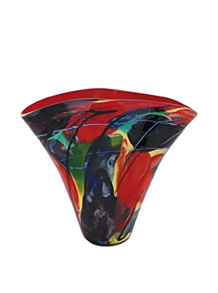 La Meridian Multi-Color Hand Blown Glass Vase