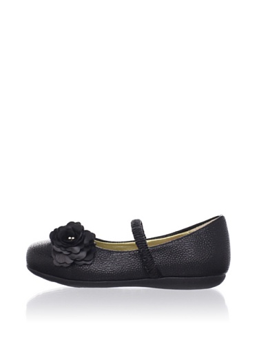 Pampili Kid's Textured Mary Janes (Black)