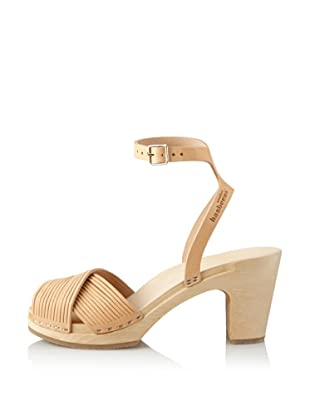 Swedish Hasbeens Women's Strappy Sandal (Nature)