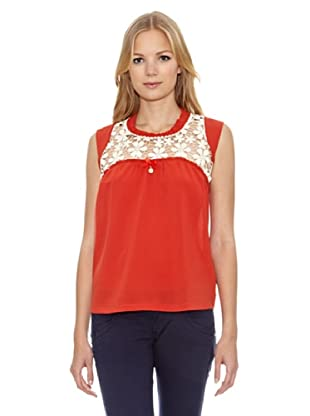 Fornarina Blusa Agathe Lace (Rojo)
