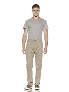 ZAK Men's Crinkle Relaxed Fit Pant (Khaki)