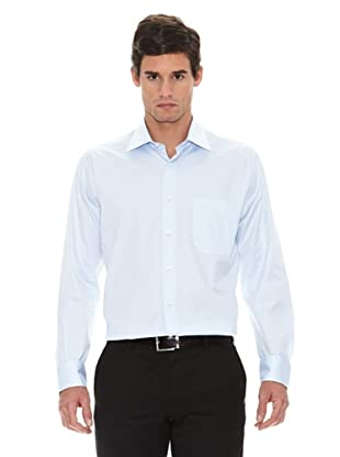 Turrau Camisa Vestir Crepe (Celeste)