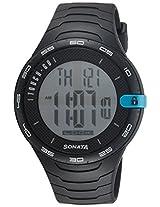 Sonata Digital Grey Dial Men's Watch - 77041PP03J