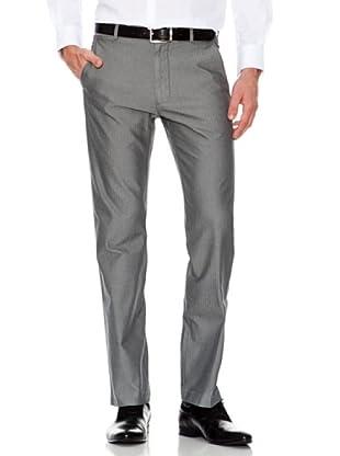Dockers Pantalón Recto Tejido Mini Espiga (gris)