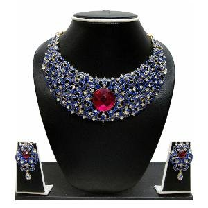 Austrian Diamond Necklace Set By Zaveri Pearls