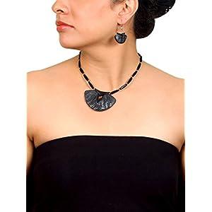 Koral Tree Sassy Black Polymer Clay Necklace Set