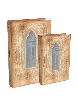 Set of 2 Replica Vintage Book Boxes