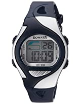 Sonata Super Fibre Digital Grey Dial Men's Watch - 87011PP03