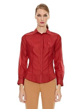 Spagnolo Camisa Algodón Seda Rejón (Burdeos)