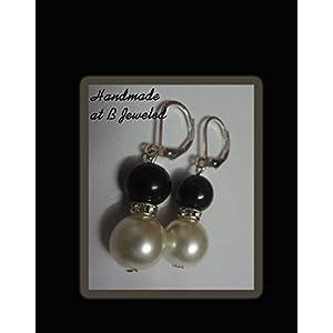 B Jeweled Pearl Earring