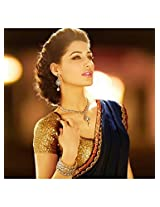 Bollywood Replica Nargis Fakhri 60 Gm Georgette Saree In Blue Colour Nc779