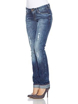 Cross Jeans Pantalón Vaquero Scarlet (Azul Medio)