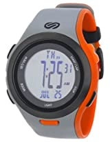 Soleus SR010070 Ultra Sole Grey Digital Dial with Grey and Orange Polyurethane Strap Watch, Men's