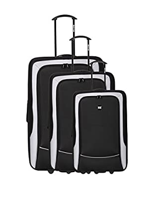 Bag Stone Set de 3 trolleys semirrígidos Girl Negro