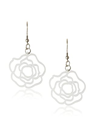 Chloe Collection By Liv Oliver Rose Steel Cutout Drop Earrings