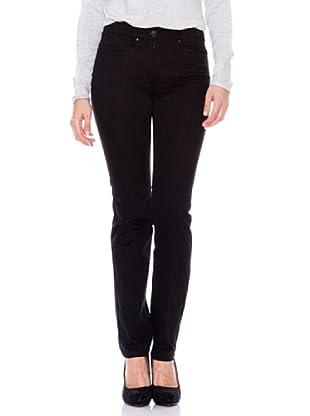 Steilmann Pantalón Stretch Estampado (negro)