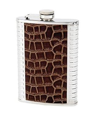 Alligator Paneled Flask