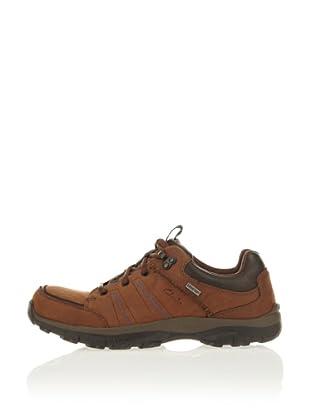 Clarks Leder Sneaker QuantockLo GTX (Braun)