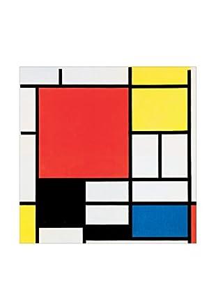 Artopweb Panel Decorativo Mondrian Komposition Mit Rot, Gelb, Blau Und Schwarz