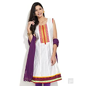 Seema Style Embroidered Sleeveless Kurta - White
