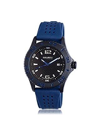 Haurex Men's 3N500UBN Factor Blue/Black Rubber Watch