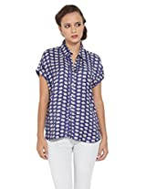 Remanika Women Cotton Shirt Blouses & Shirt (Ssh-Connor1 _Blue _Small)
