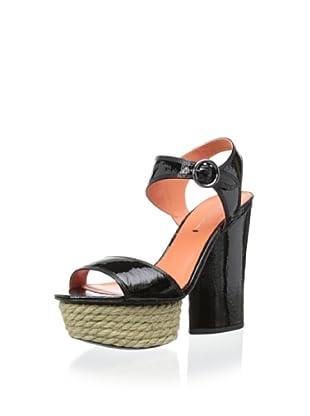 Via Spiga Women's V-Novia Platform Sandal (Black)