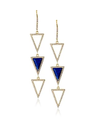 Melanie Auld Lapis Triple Triangle Earrings